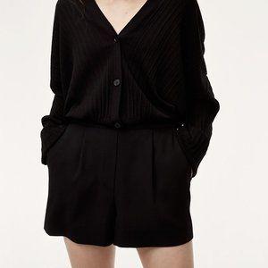 Aritzia Babaton Cohen Pleated Dress Short Terado